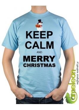 Koszulka KEEP calm and Merry Christmas