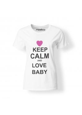 Koszulka damska Keep Calm and Love Baby