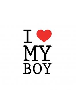 "Koszulka damska ""I love my boy"""